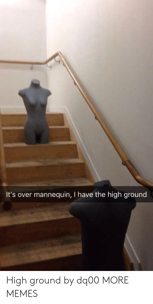 Dank, Memes, and Target: It's over mannequin, I have the high ground High ground by dq00 MORE MEMES