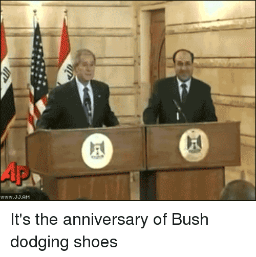 AccidentalComedy: It's the anniversary of Bush dodging shoes