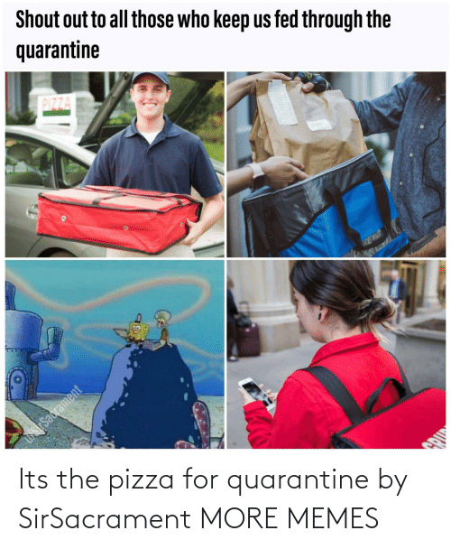 pizza: Its the pizza for quarantine by SirSacrament MORE MEMES