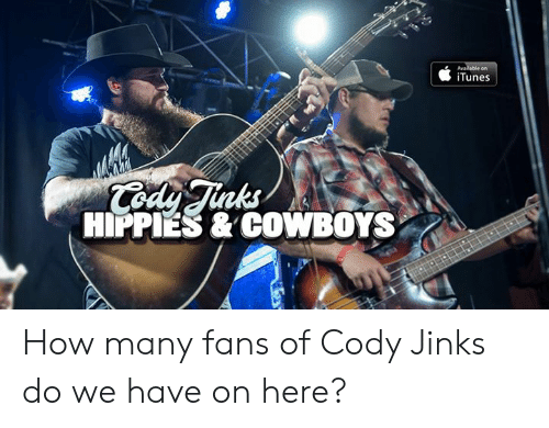 cody: iTunes  nks  HIPPIES & COWBOYS How many fans of Cody Jinks do we have on here?