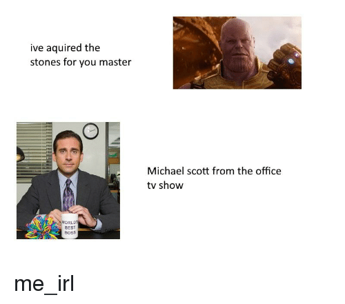 Michael Scott, The Office, and Best: ive aquired the  stones for you master  Michael scott from the office  tv show  WORLD  BEST  BoSS