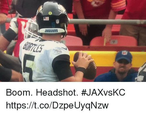Sports, Boom, and Jaguars: JAGUARS Boom. Headshot. #JAXvsKC https://t.co/DzpeUyqNzw