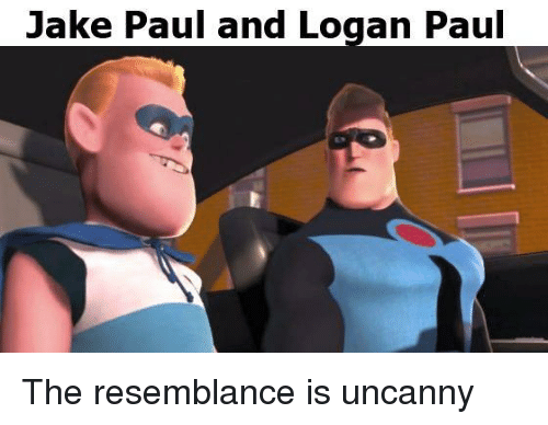 the resemblance is uncanny: Jake Paul and Logan Paul The resemblance is uncanny