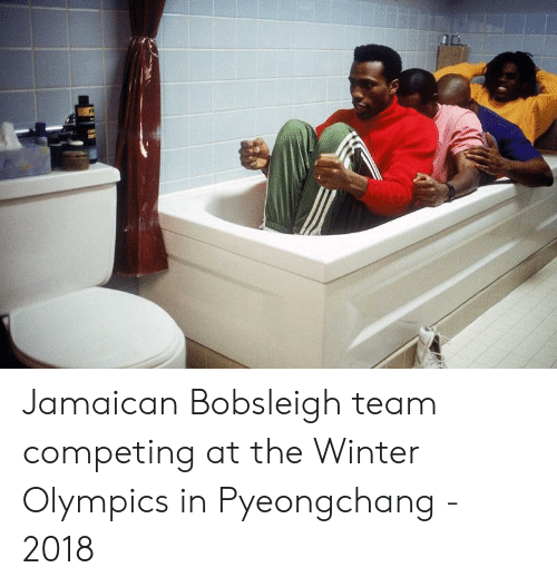 Jamaican: Jamaican Bobsleigh team competing at the Winter Olympics in Pyeongchang - 2018