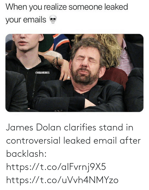 Email: James Dolan clarifies stand in controversial leaked email after backlash: https://t.co/aIFvrnj9X5 https://t.co/uVvh4NMYzo