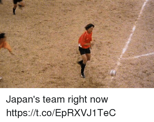 Team, Now, and Right Now: Japan's team right now https://t.co/EpRXVJ1TeC