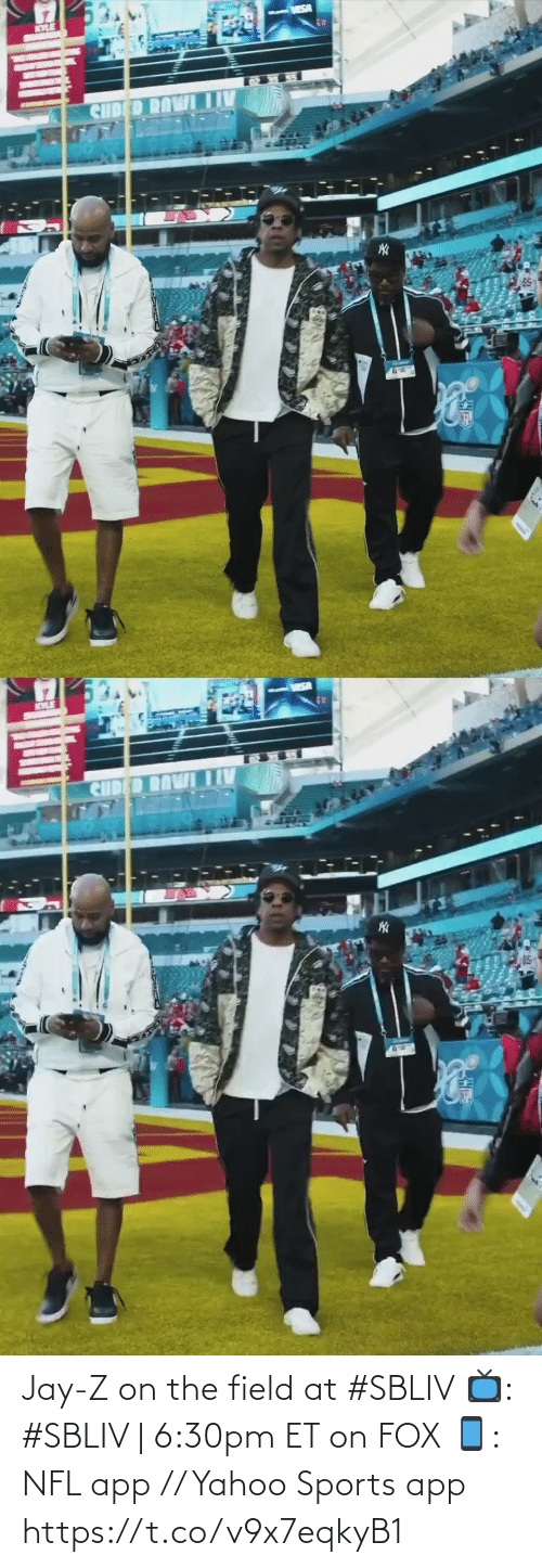 fox: Jay-Z on the field at #SBLIV   📺: #SBLIV | 6:30pm ET on FOX 📱: NFL app // Yahoo Sports app https://t.co/v9x7eqkyB1
