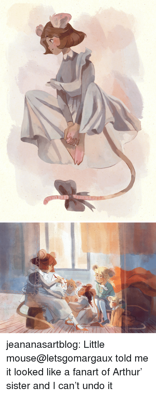 Arthur, Target, and Tumblr: jeananasartblog:  Little mouse@letsgomargaux told me it looked like a fanart of Arthur' sister and I can't undo it