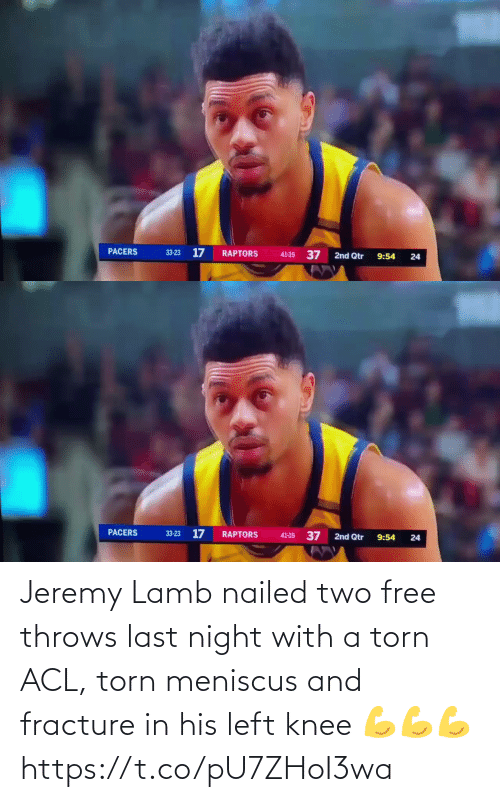 Free: Jeremy Lamb nailed two free throws last night with a torn ACL, torn meniscus and fracture in his left knee  💪💪💪 https://t.co/pU7ZHoI3wa