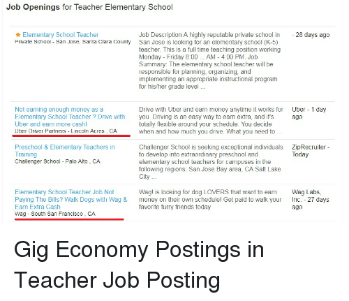 elementary school teacher job openings
