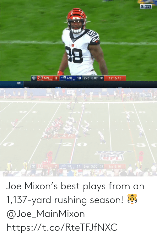 rushing: Joe Mixon's best plays from an 1,137-yard rushing season! 🐯@Joe_MainMixon https://t.co/RteTFJfNXC