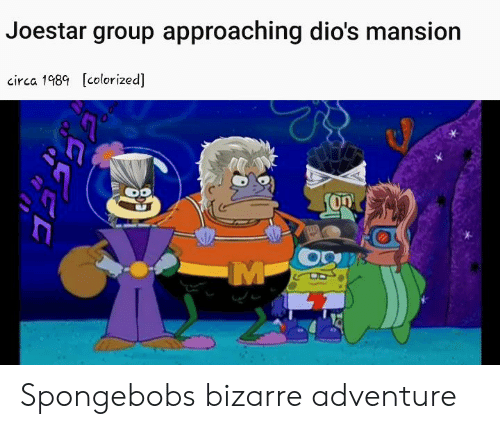 Joestar Group Approaching Dio's Mansion Circa 198 Colorized