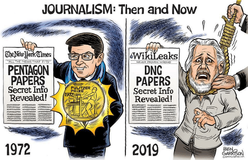 Papers: JOURNALISM: Then and Now  | TheNewHorkCimes  WikiLeaks  DNG  PAPERS  Secret Info  Revealed!  ALL THE NEWS THAT FITS  NEVER PROVEN WRONG  PENTAGON  PAPERS  Secret Info  Revealed!  PULITZER  PRIZE  1972  aw ww  1972  2019  BEN,  GARRISON  GRRRGRAPHICS