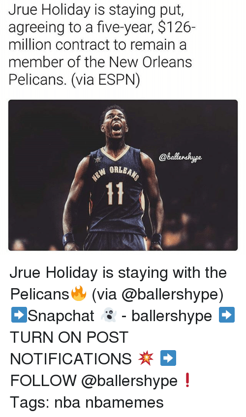 Jrue Holiday Is Staying Put Agreeing to a Five-Year $126