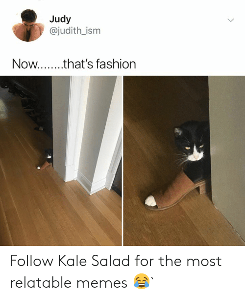 Fashion, Memes, and Kale: Judy  @judith_ism  Now.. that's fashion Follow Kale Salad for the most relatable memes 😂`