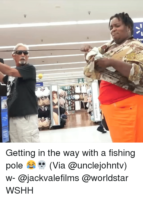 Memes, Worldstar, and Wshh: Junior Bras Getting in the way with a fishing pole 😂💀 (Via @unclejohntv) w- @jackvalefilms @worldstar WSHH