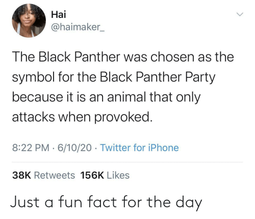 fact: Just a fun fact for the day