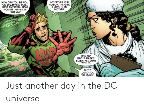 universe: Just another day in the DC universe