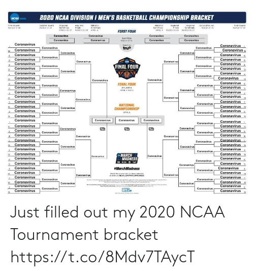 Ncaa: Just filled out my 2020 NCAA Tournament bracket https://t.co/8Mdv7TAycT