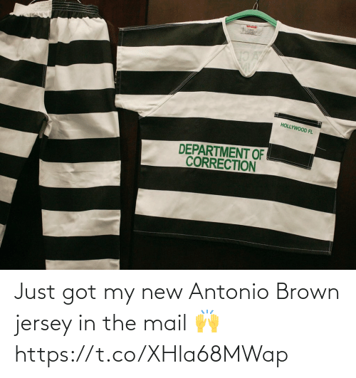 Got My: Just got my new Antonio Brown jersey in the mail 🙌 https://t.co/XHla68MWap