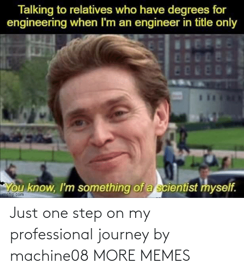 Dank, Journey, and Memes: Just one step on my professional journey by machine08 MORE MEMES