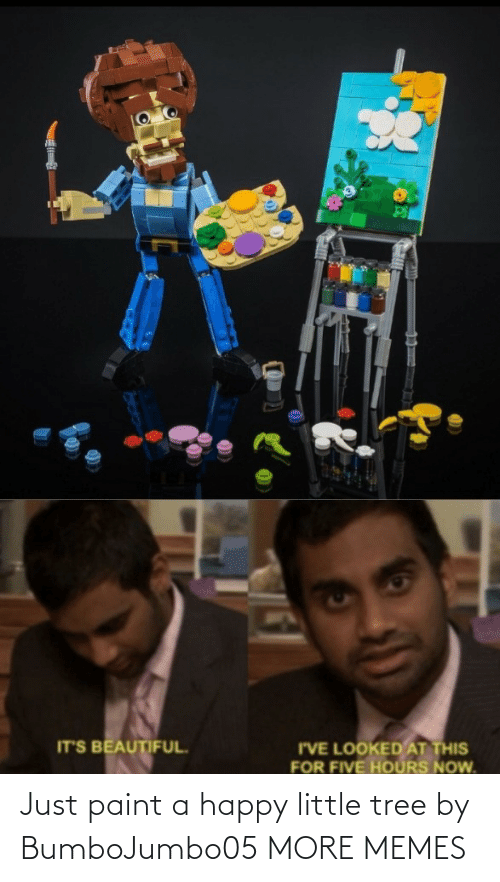 Paint: Just paint a happy little tree by BumboJumbo05 MORE MEMES