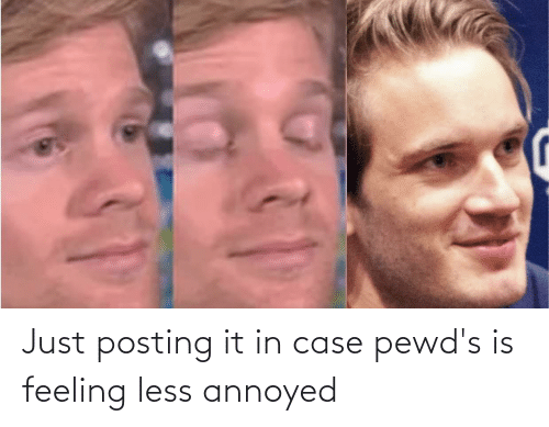 In Case: Just posting it in case pewd's is feeling less annoyed