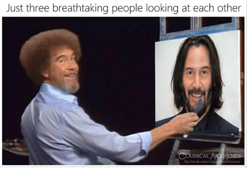 Classical: Just three breathtaking people looking at each other  CLASSICAL ARTMEMES  facebook.com/classiculartmemes