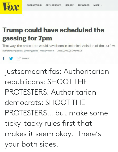 there: justsomeantifas: Authoritarian republicans: SHOOT THE PROTESTERS!