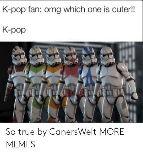 Dank, Memes, and Omg: K-pop fan: omg which one is cuter!!  K-pop So true by CanersWelt MORE MEMES