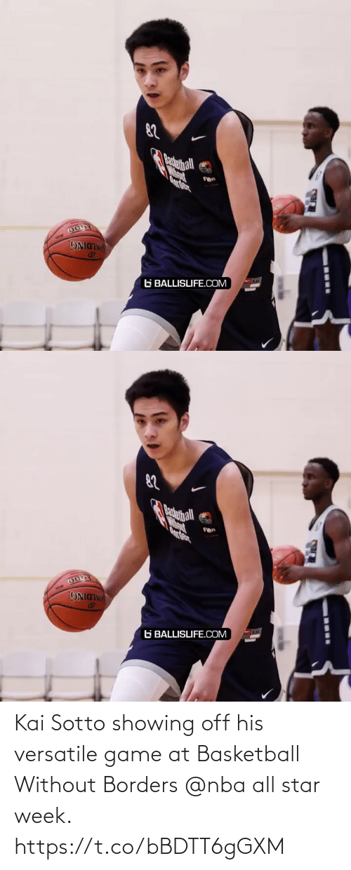 nba all star: Kai Sotto showing off his versatile game at Basketball Without Borders @nba all star week. https://t.co/bBDTT6gGXM