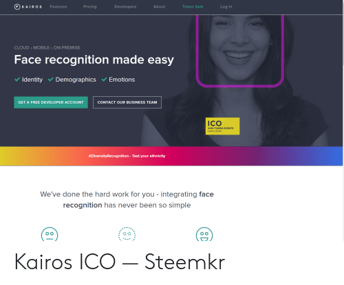 KAIRO S Token Sale Features Pricing Developers About Log in