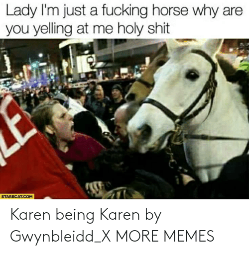 Dank, Memes, and Target: Karen being Karen by Gwynbleidd_X MORE MEMES