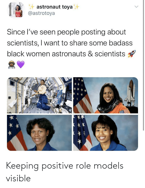 Role: Keeping positive role models visible