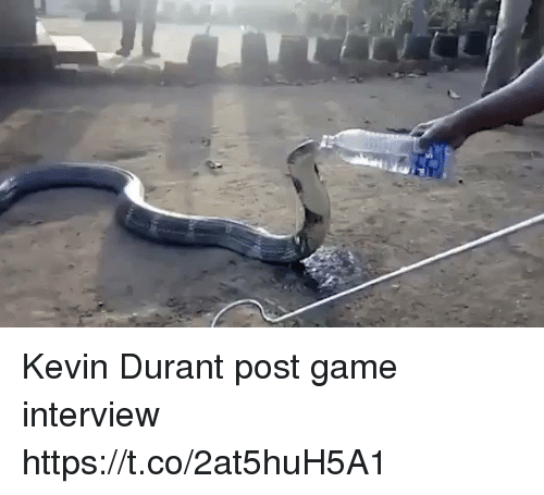 Kevin Durant, Memes, and Game: Kevin Durant post game interview https://t.co/2at5huH5A1