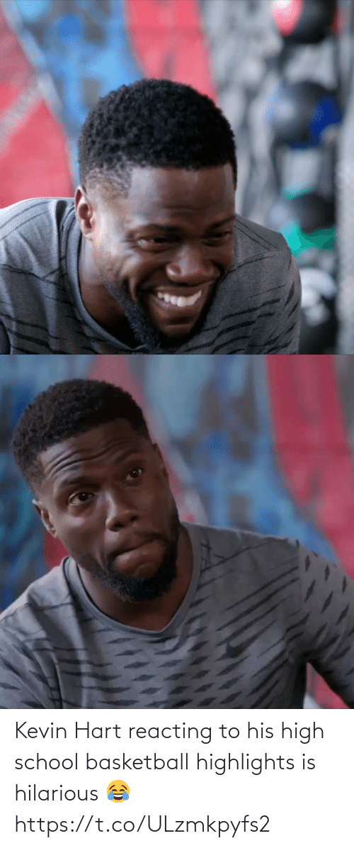 kevin: Kevin Hart reacting to his high school basketball highlights is hilarious 😂 https://t.co/ULzmkpyfs2