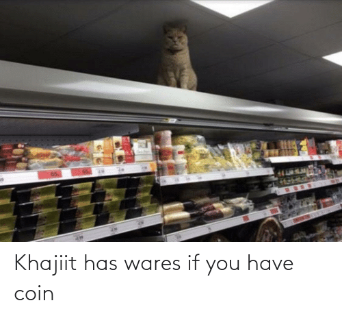 If You: Khajiit has wares if you have coin