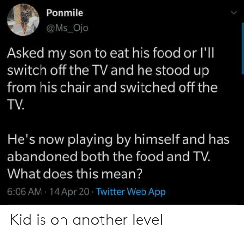 level: Kid is on another level