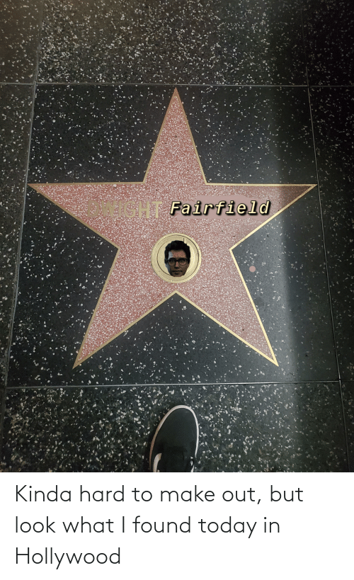 hollywood: Kinda hard to make out, but look what I found today in Hollywood
