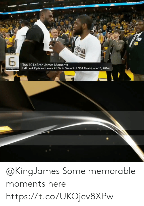 Some: @KingJames Some memorable moments here https://t.co/UKOjev8XPw