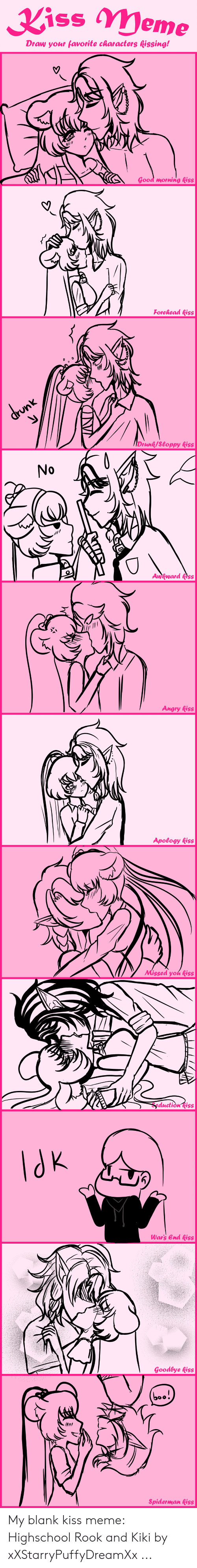 Kiss Meme Draw Your Favorite Characters Kissing! Good