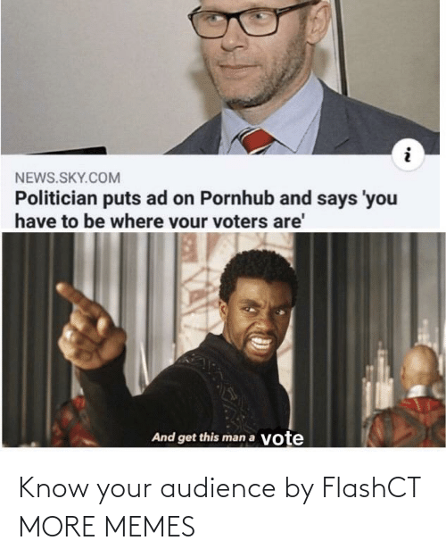 Know Your: Know your audience by FlashCT MORE MEMES