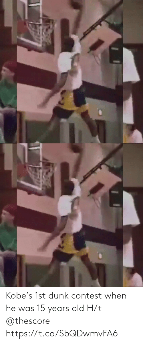 1St: Kobe's 1st dunk contest when he was 15 years old H/t @thescore https://t.co/SbQDwmvFA6