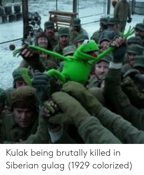 Gulag, Colorized, and Being: Kulak being brutally killed in Siberian gulag (1929 colorized)