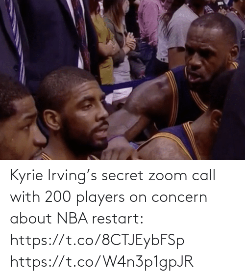 secret: Kyrie Irving's secret zoom call with 200 players on concern about NBA restart: https://t.co/8CTJEybFSp https://t.co/W4n3p1gpJR