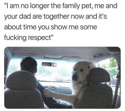"""Dad, Family, and Fucking: """"l am no longer the family pet, me and  your dad are together now and it's  about time you show me some  fucking respect"""""""