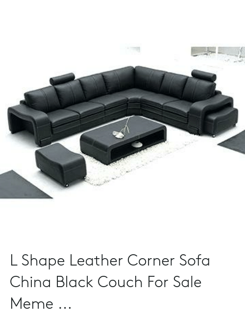 Wondrous L Shape Leather Corner Sofa China Black Couch For Sale Meme Machost Co Dining Chair Design Ideas Machostcouk