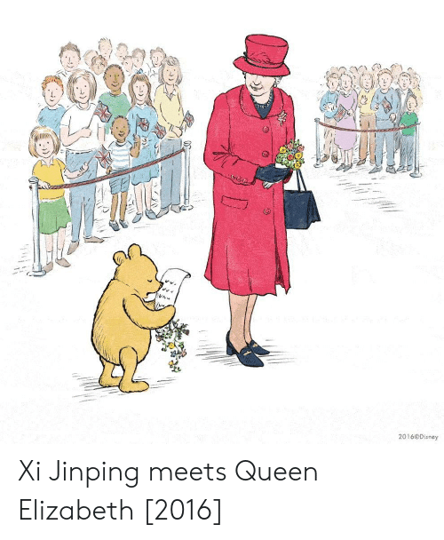 Disney, Queen Elizabeth, and Queen: L.  te  201 6 Disney Xi Jinping meets Queen Elizabeth [2016]