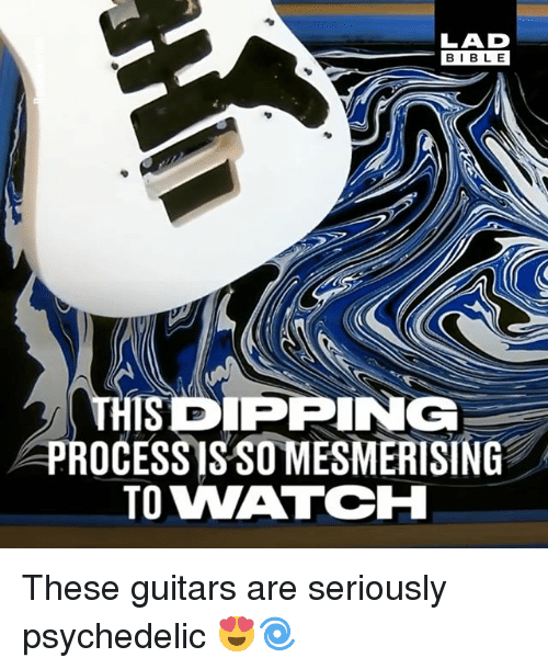 Bibled: LAD  BIBLE  BIBL E  THISDPPING  PROCESSISSO MESMERISING  TO WATCH These guitars are seriously psychedelic 😍🌀