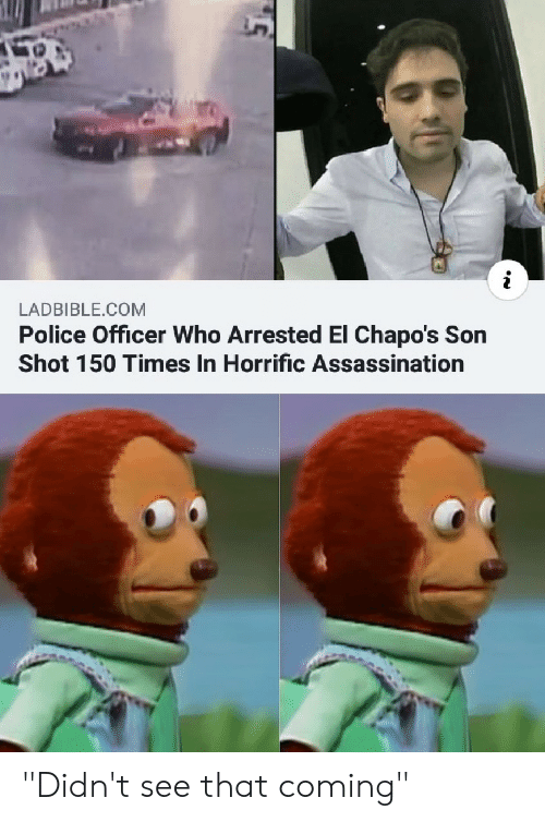 """Assassination, Police, and Reddit: LADBIBLE.COM  Police Officer Who Arrested El Chapo's Son  Shot 150 Times In Horrific Assassination """"Didn't see that coming"""""""